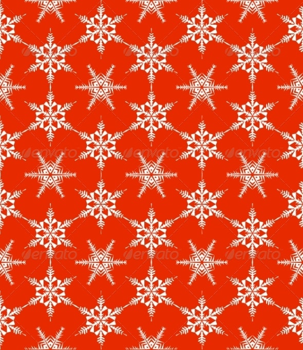 Pattern with Snowflakes - Christmas Seasons/Holidays