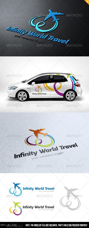 Infinity World Travel Logo - Objects Logo Templates