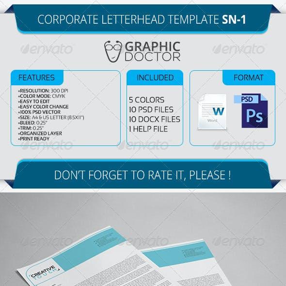 Corporate Letterhead Template SN-1