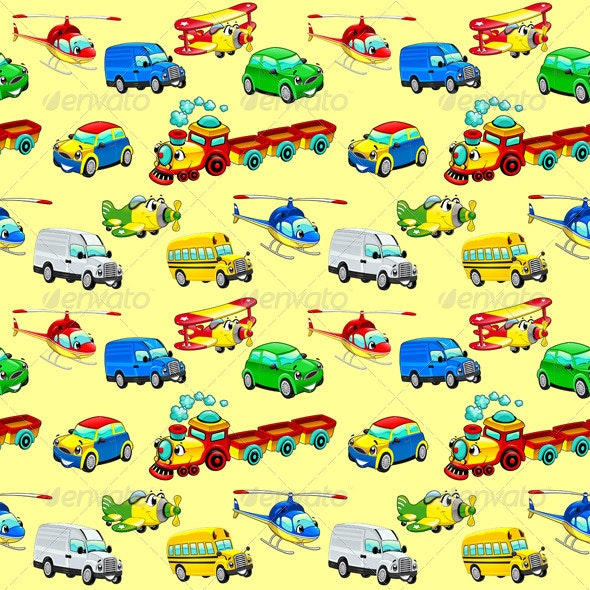 Funny Vehicles Background - Travel Conceptual