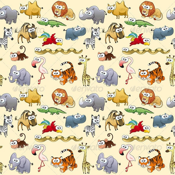 Savannah Animals Background. - Animals Characters