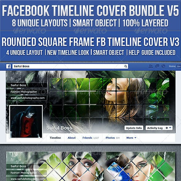 Facebook Timeline Cover Bundle V5