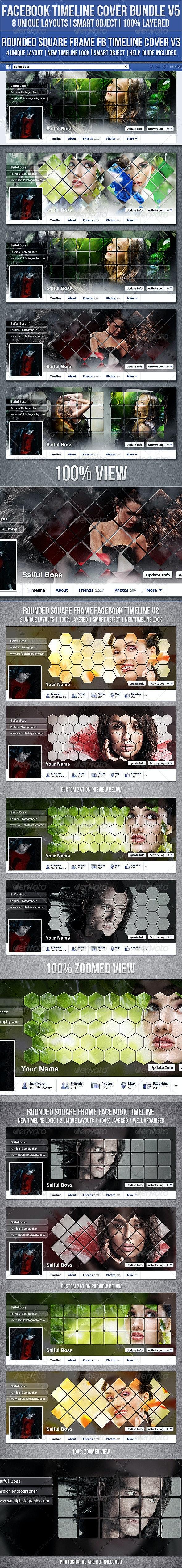 Facebook Timeline Cover Bundle V5 - Facebook Timeline Covers Social Media