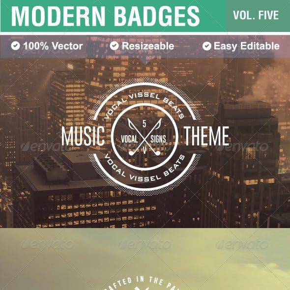 Modern Badges and Labels V5