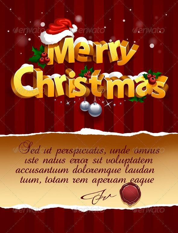 Three-dimensional Christmas Lettering - Christmas Seasons/Holidays
