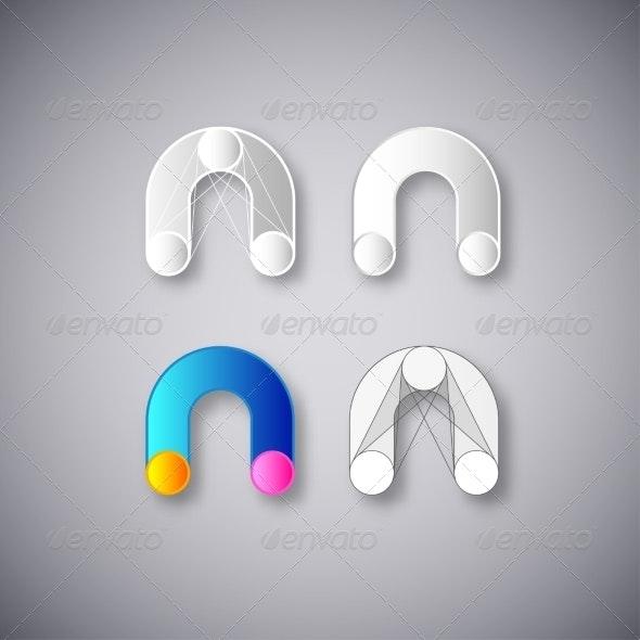 Letter N Abstractions - Decorative Symbols Decorative