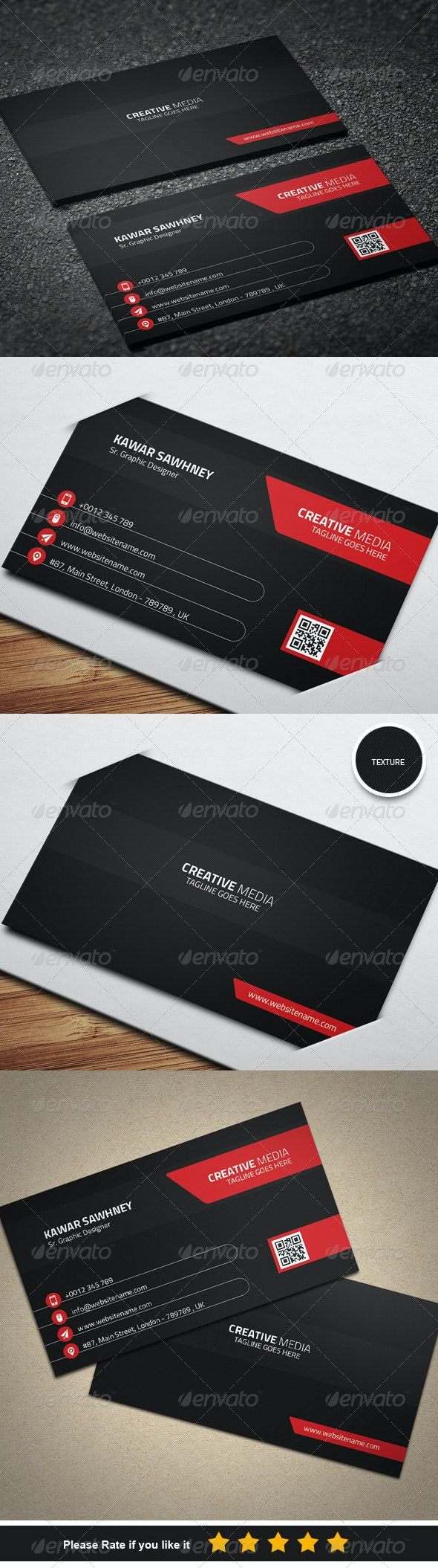 Corporate Business Card 7 - Business Cards Print Templates