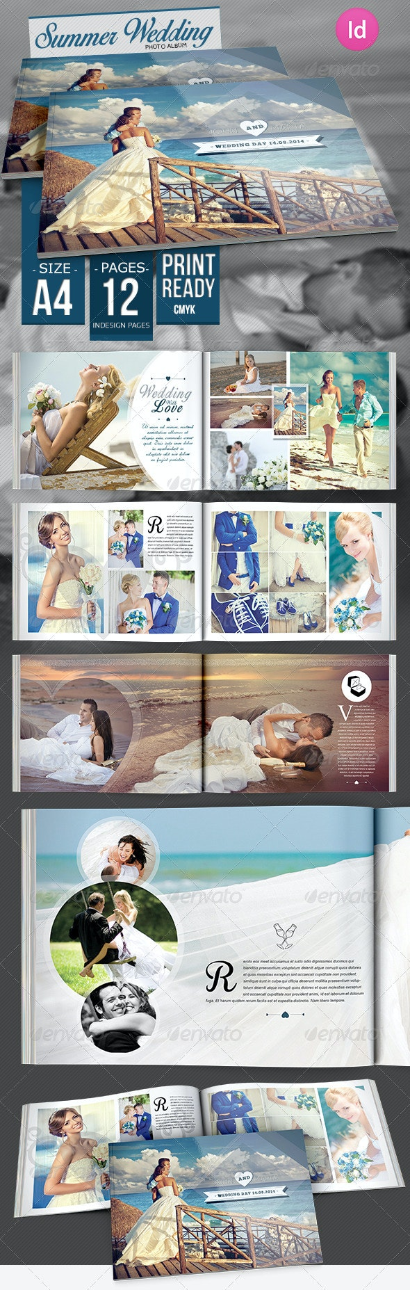 Summer Wedding Photo Album - Photo Albums Print Templates