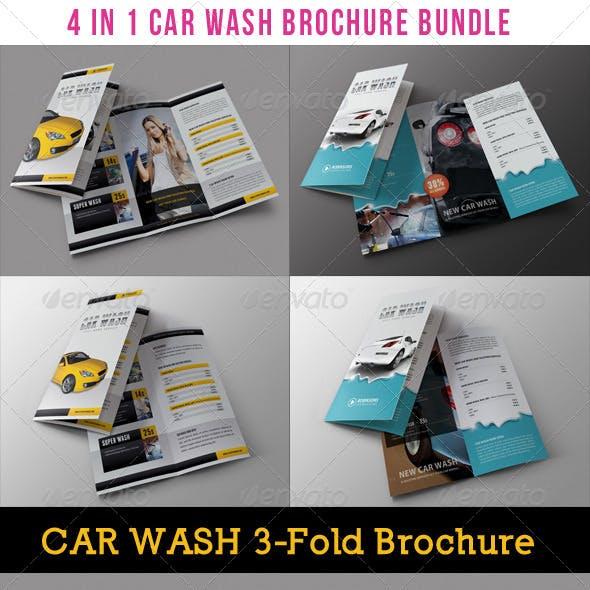 4 in 1 Car Wash Multiuse Brochure Bundle 01