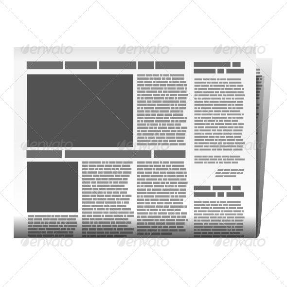 Newspaper Illustration - Web Elements Vectors