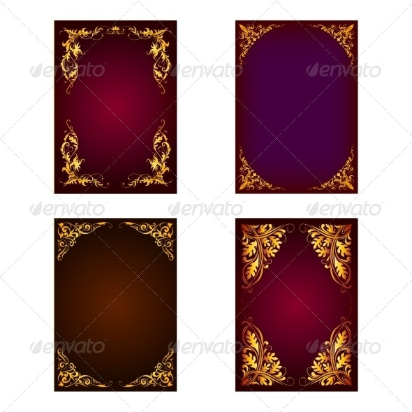 Set of Invitation Cards - Backgrounds Decorative