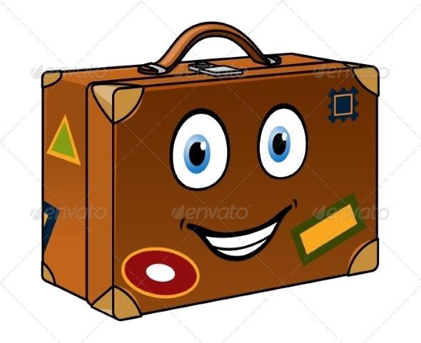Cartoon Suitcase - Travel Conceptual
