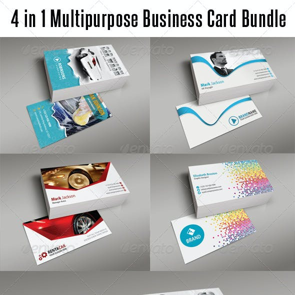 4 in 1 Multipurpose Business Card Bundle 03
