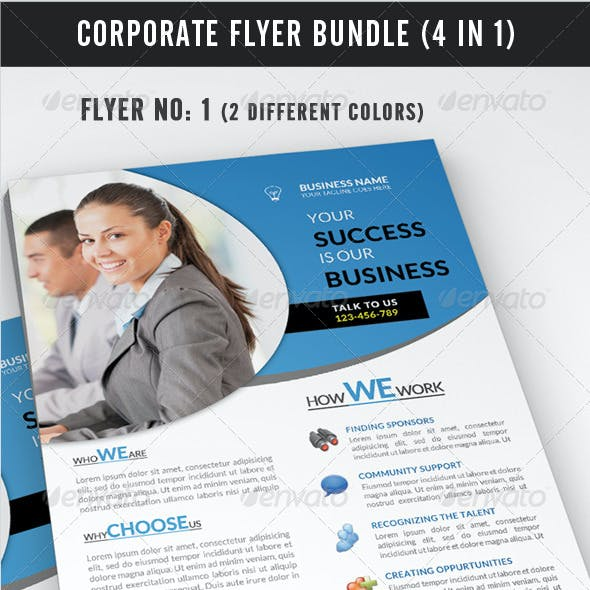 Corporate Flyer Bundle (4 in 1)