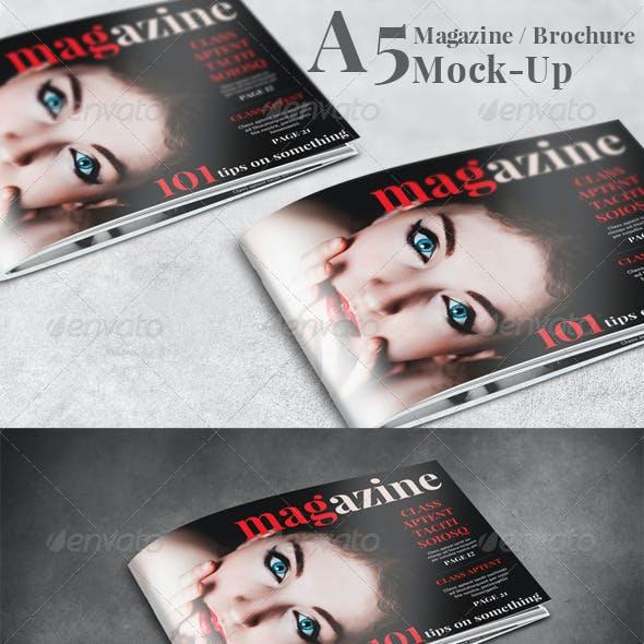 A5 Landscape Brochure / Magazine Mock-Up