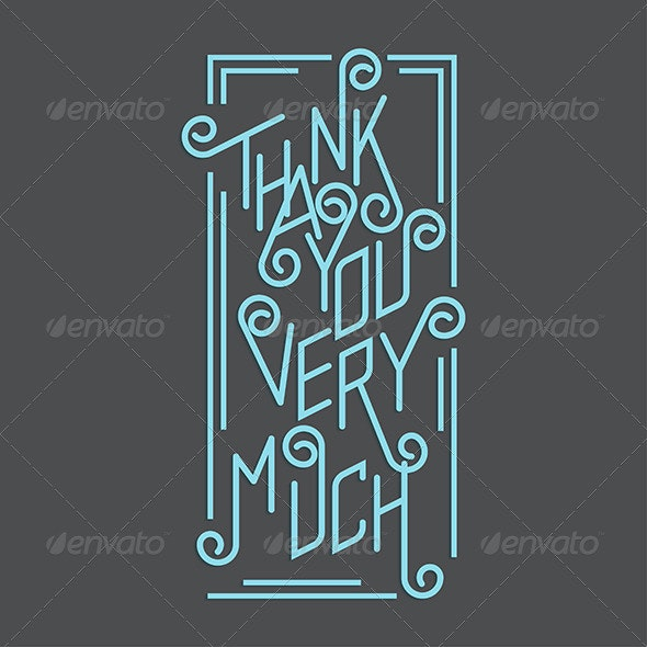 Thank You Very Much - Conceptual Vectors
