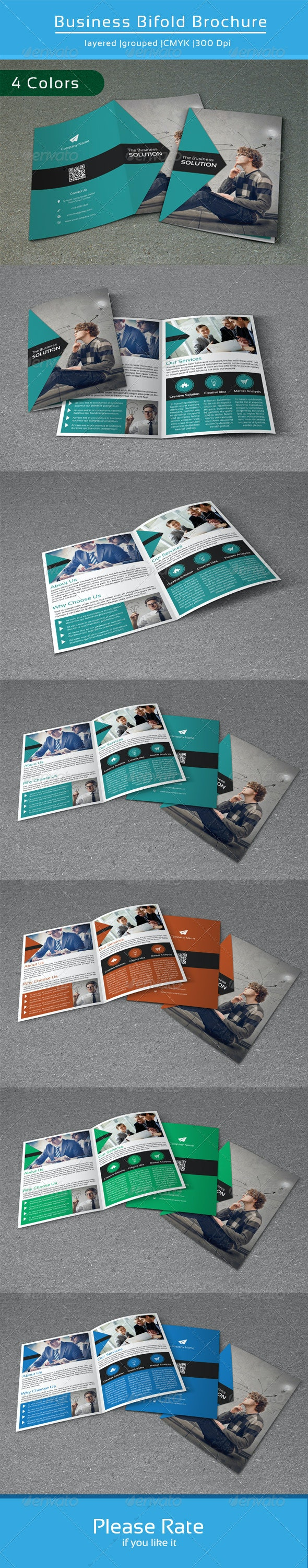 Minimal Bifold Template-V97 - Corporate Brochures