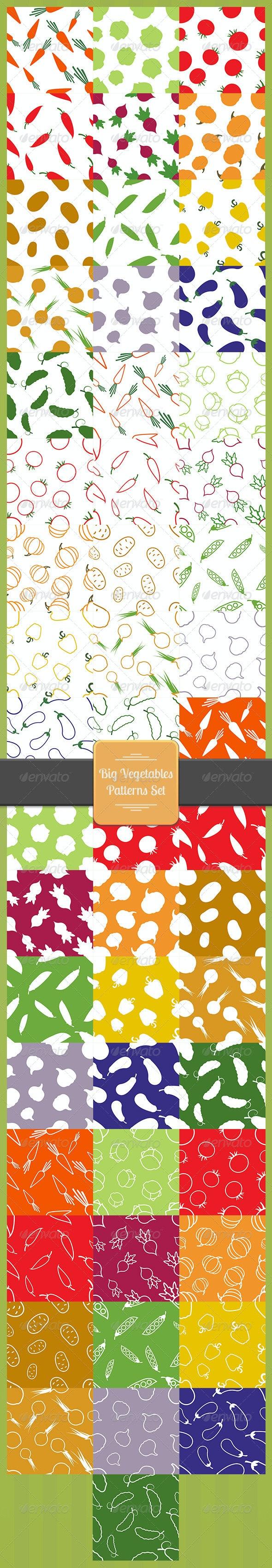 Big Vegetables Patterns Set - Patterns Decorative