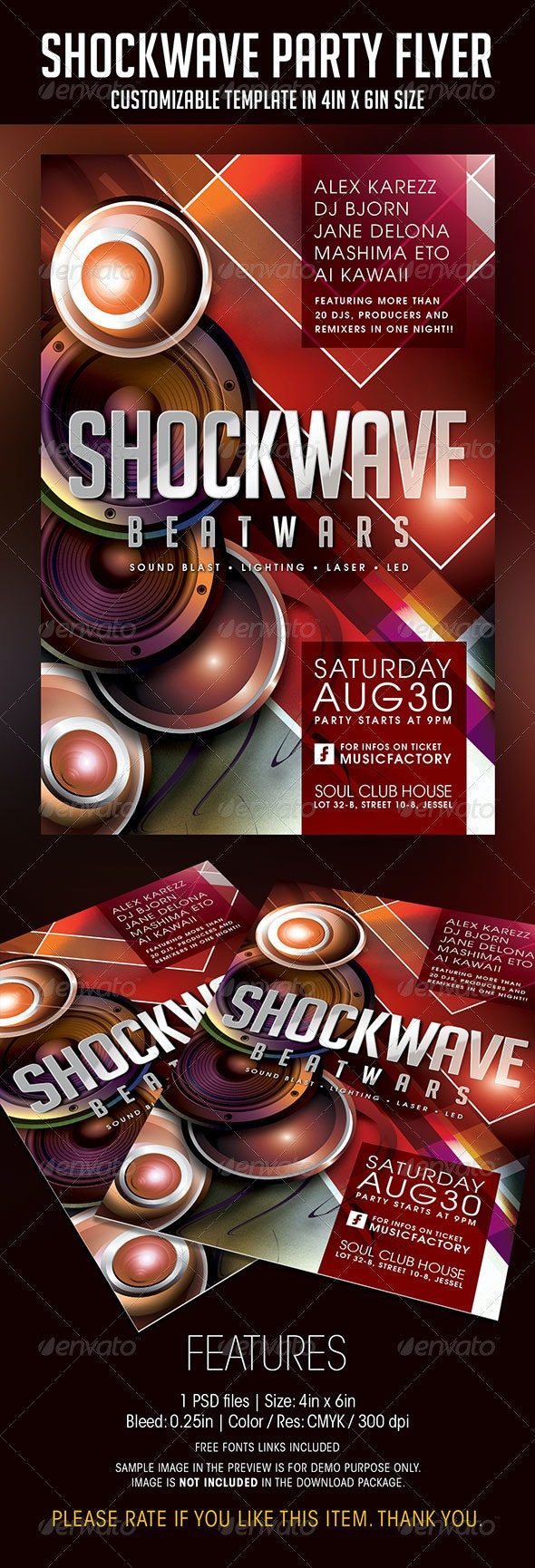 Shockwave Party Flyer - Clubs & Parties Events