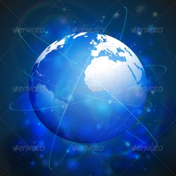 Globe Network Connections - Web Technology