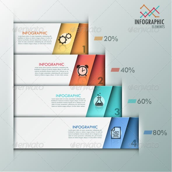 Modern Infographics Options Banner (2 Versions)