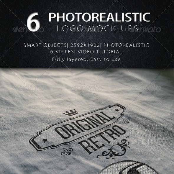6 Photorealistic Logos/Badges Mock Ups