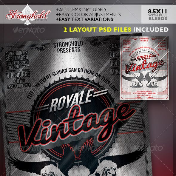 Vintage Royale Lion Crest Event Flyer Template