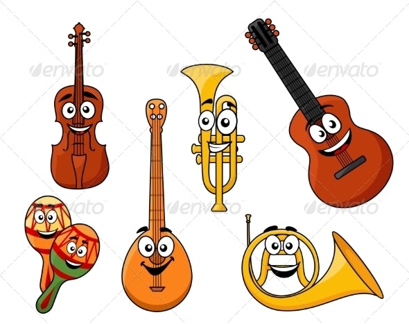 Set of Musical Instruments - Man-made Objects Objects