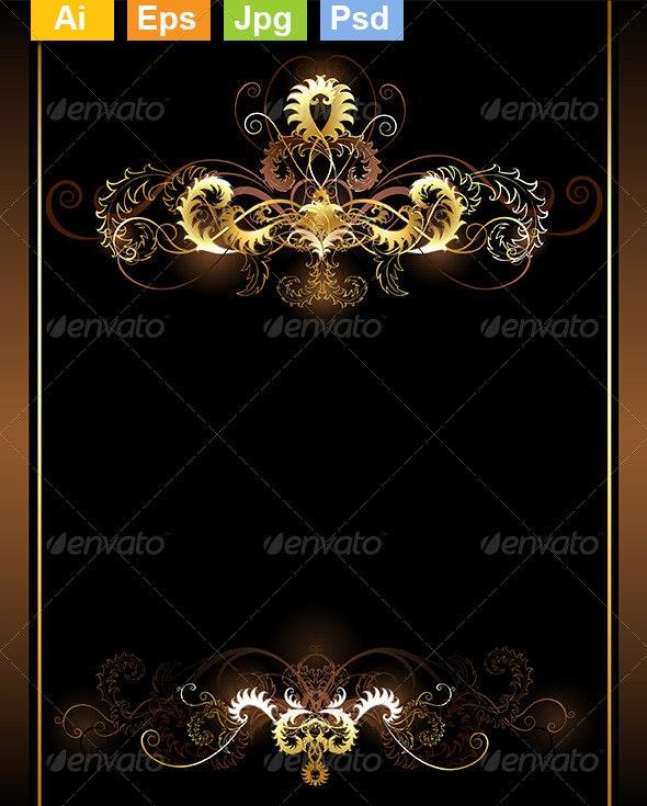 Gold Vignettes - Decorative Vectors