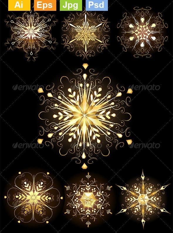 Jewelry Snowflakes - Christmas Seasons/Holidays