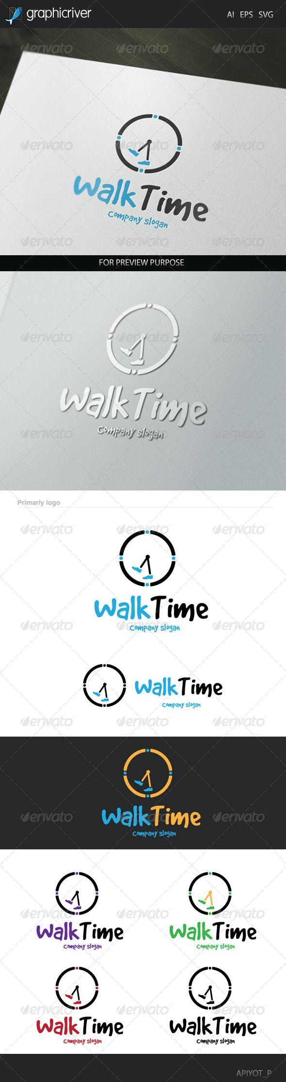 Walk Time Logo - Symbols Logo Templates