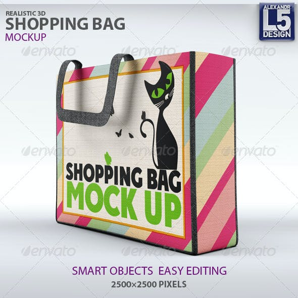 Cloth Shopping Bag Mock-Up