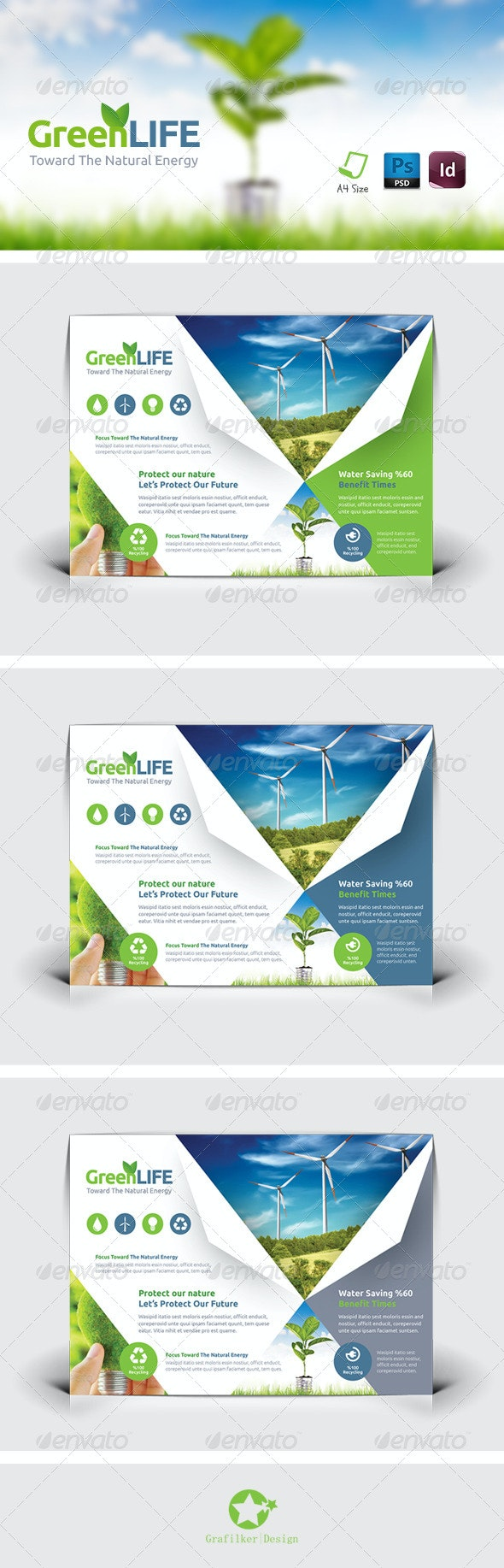 Green Energy Flyer Templates - Corporate Flyers