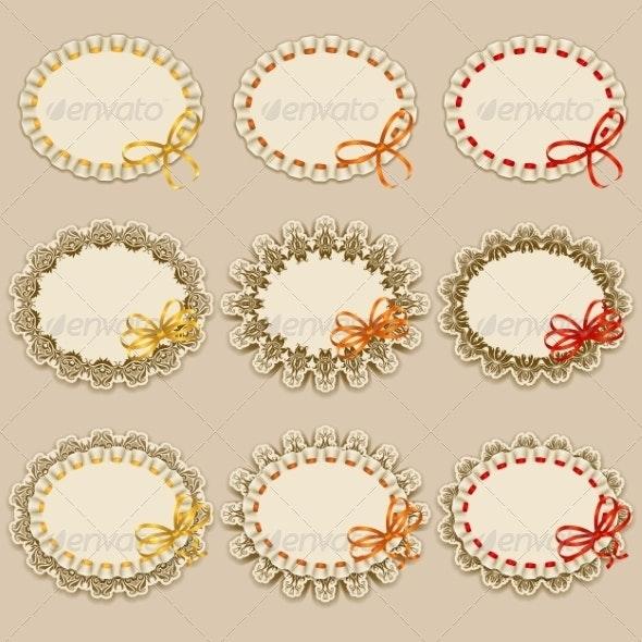 Set of Elegant Templates Frame Design - Borders Decorative