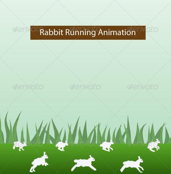 Rabbit Running Animation - Animals Characters