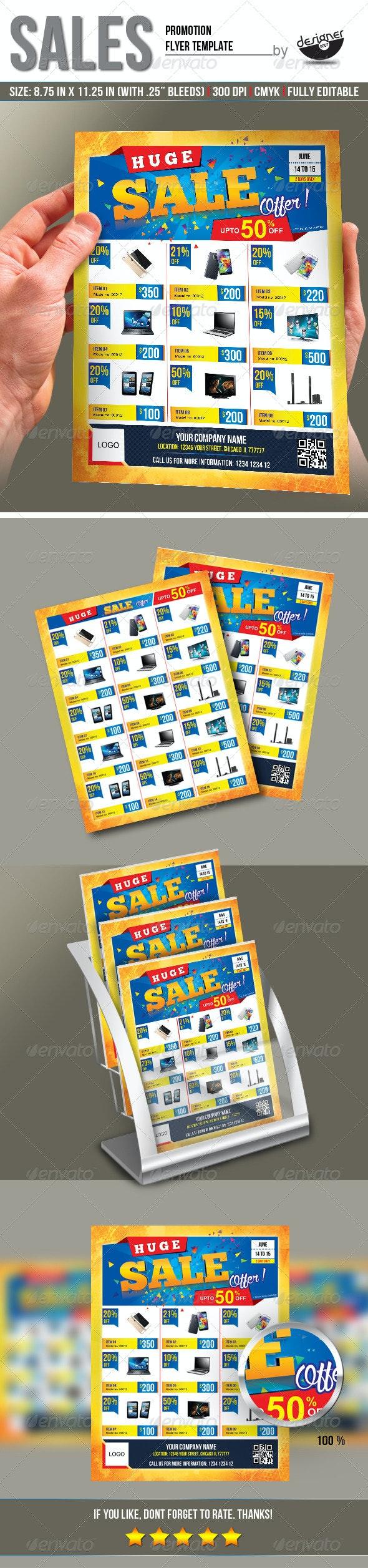 Sales Promotion Flyer Template - Commerce Flyers