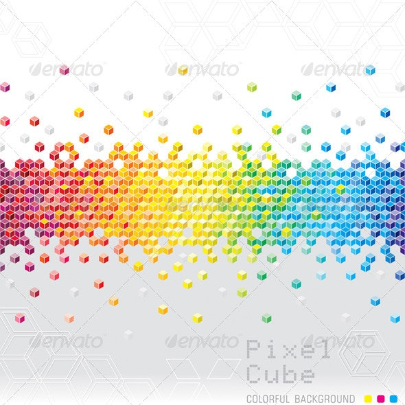 Abstract Pixel Background - Abstract Conceptual