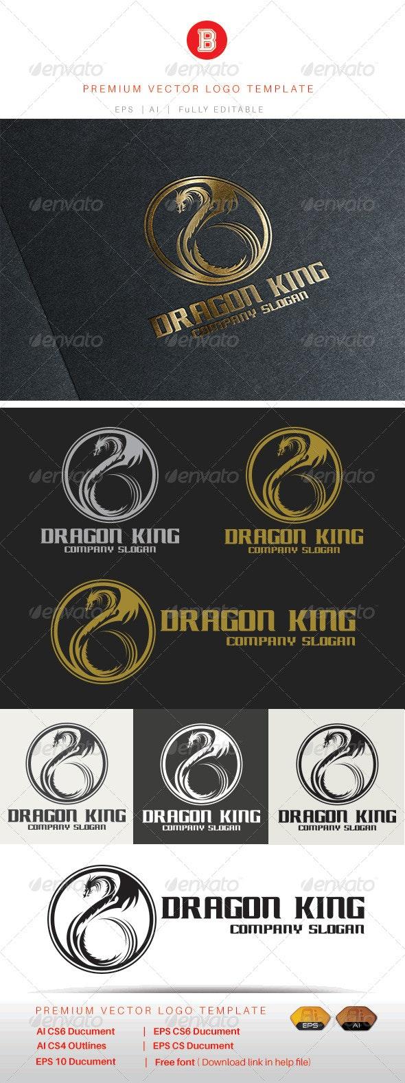 Dragon King - Animals Logo Templates