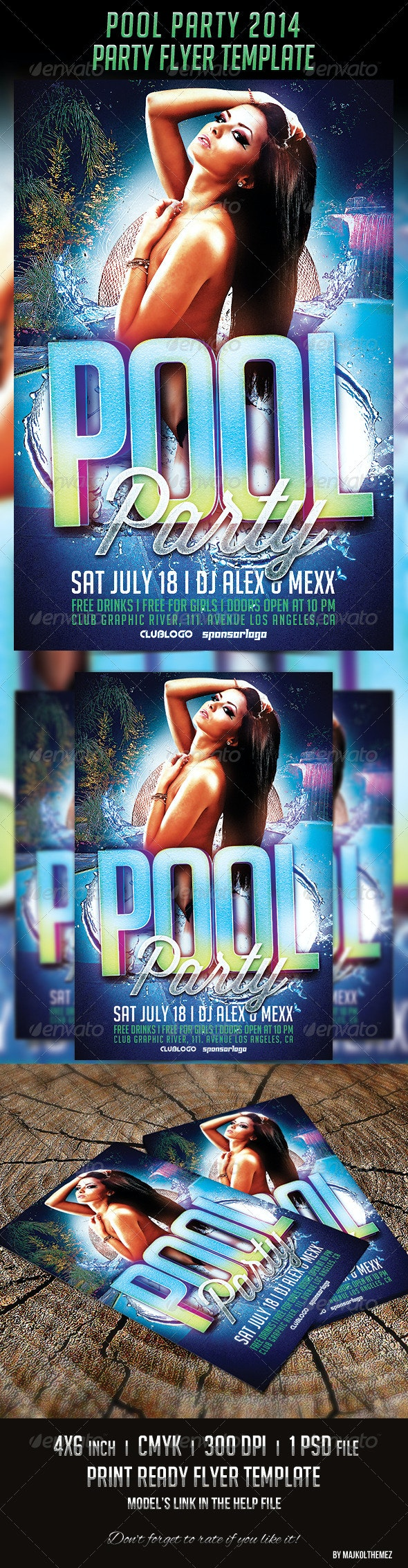 Pool Party 2014 Flyer Template - Clubs & Parties Events