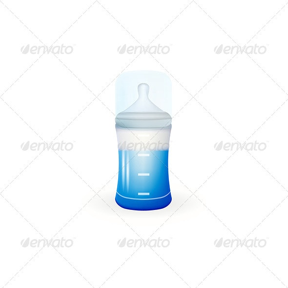 Baby Feeding Bottle - Food Objects