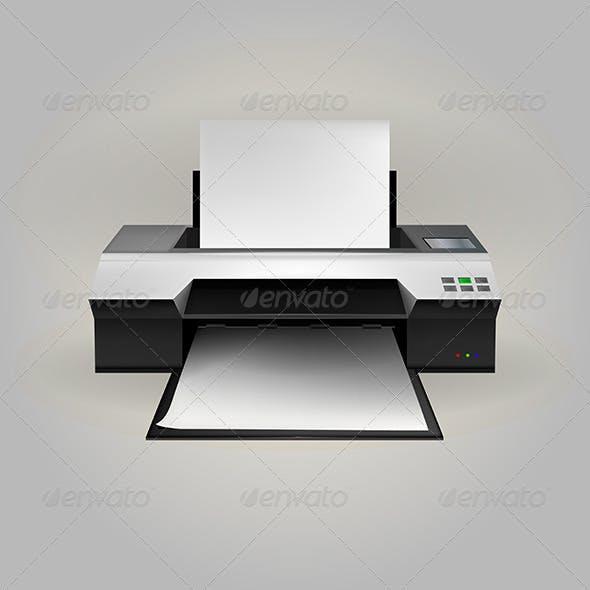 Illustration of Inkjet Printer