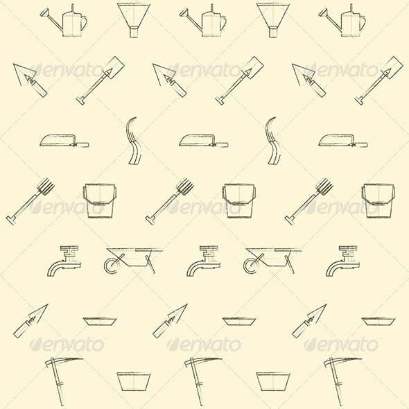 Gardening Tools Background