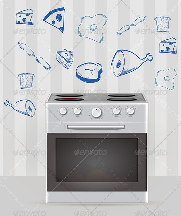 Oven Illustration - Man-made Objects Objects