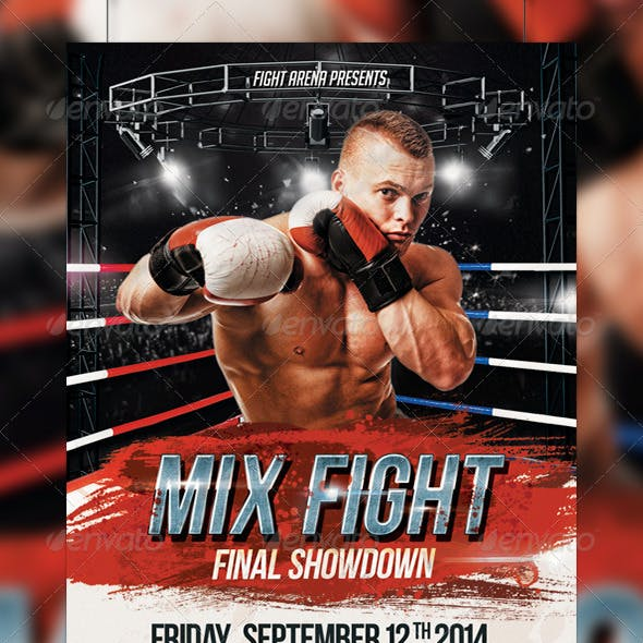 Mix Fight Flyer Template