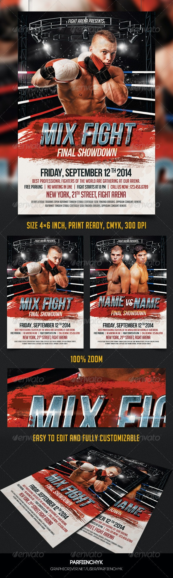 Mix Fight Flyer Template - Sports Events
