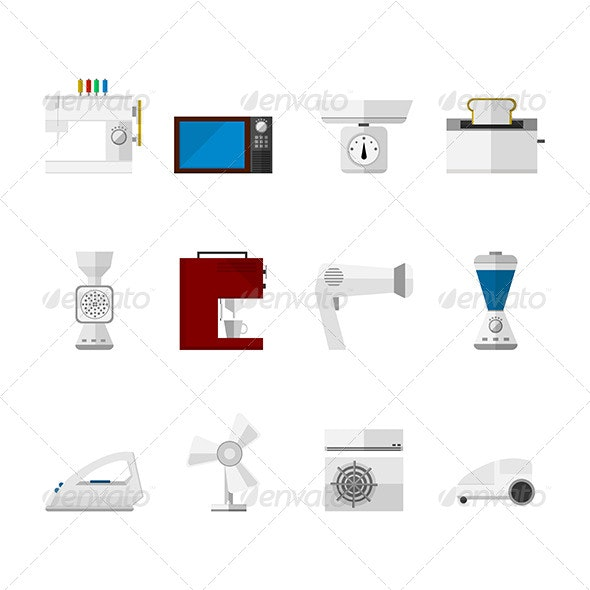 Flat Icons for Home  - Web Elements Vectors