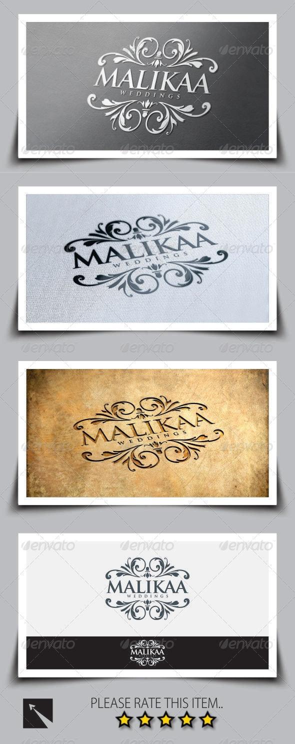 Malikaa Wedding Logo Template - Crests Logo Templates