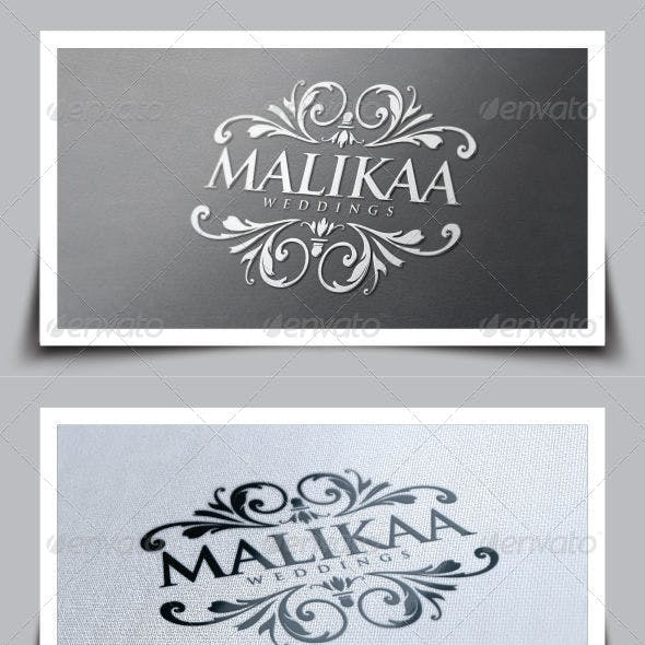 Malikaa Wedding Logo Template