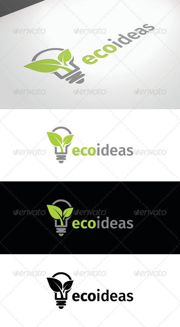 Eco Ideas Logo Template - Nature Logo Templates