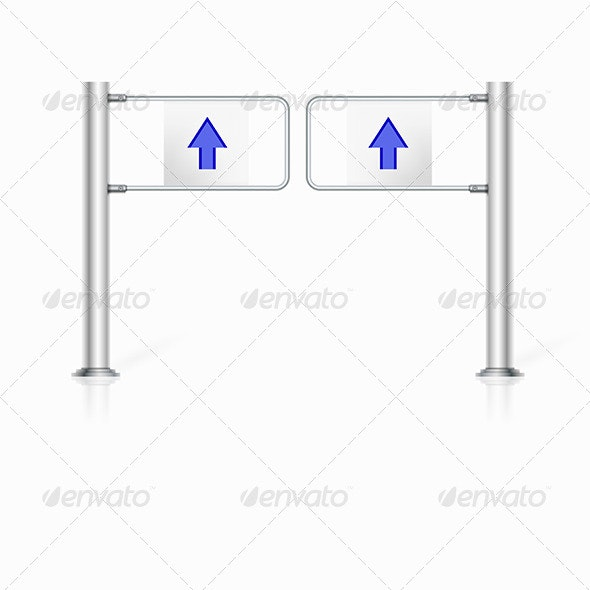 Illustration of Turnstile - Man-made Objects Objects